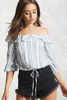 LOVE21 LOVE 21 Off-the-Shoulder Striped Top