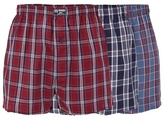 Mantaray Three Pack Of Navy And Red Woven Boxers