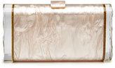 Edie Parker Lara Wings Acrylic Clutch Bag, Nude
