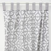 Caden Lane Mod Lattice Window Panel Pair in Grey