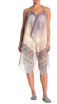 Pool' POOL TO PARTY Printed Frayed Trim Cover-Up