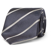Canali 8cm Silk-jacquard Tie - Navy