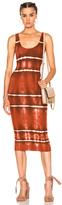Enza Costa Rib Tank Dress in Ombre & Tie Dye,Red.