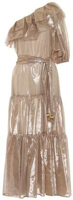 Lisa Marie Fernandez Arden metallic maxi dress