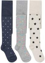 M&Co Spot heart and star tights three pack