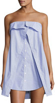 Dolce Vita Olivia Off-the-Shoulder Shirtdress, Blue/White