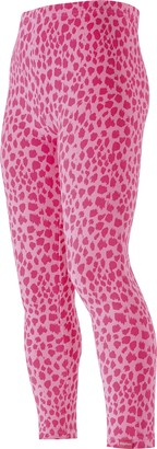 Playshoes Girl's Leggings Lang Leopardenmuster rosa
