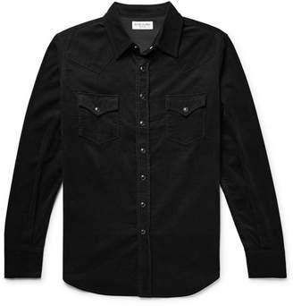 Saint Laurent Slim-Fit Cotton-Corduroy Western Shirt