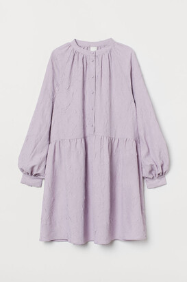 H&M Long-sleeved Dress - Purple