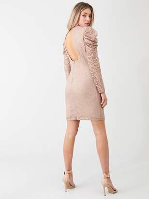 Little Mistress Mini Lace Bodycon Dress - Cream