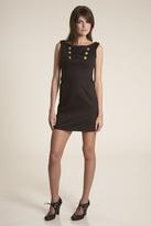 Corey Lynn Calter Nellie Button Detail Dress in Black