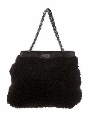 Ermanno Scervino Persian Lamb Shoulder Bag Black