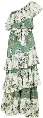 MISA Faena floral-print ruffle-trimmed maxi dress