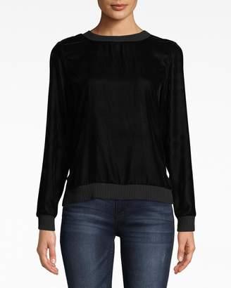 Nicole Miller Lightweight Velvet Sweatshirt