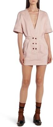 Fendi Cotton Stretch Drill Minidress