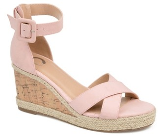 Journee Collection Telyn Espadrille Wedge Sandal