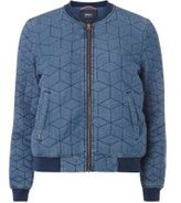 Dorothy Perkins Womens **Only Denim Bomber Jacket- Blue