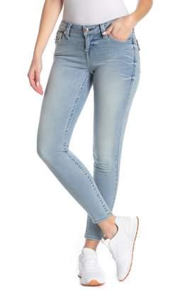 True Religion Halle Flap Pocket Mid Rise Super Skinny Jeans