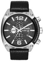 Diesel 'Overflow' Chronograph Leather Strap Watch, 46mm x 49mm