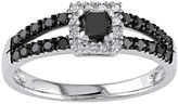 Black Diamond MODERN BRIDE Midnight 1/2 CT. T.W. Color-Enhanced 10K White Gold Ring