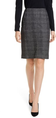 HUGO BOSS Vidar Glen Check Pencil Skirt