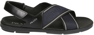 Prada Cross Strap Sandals