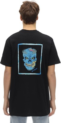 B Used OVERSIZE SKULL PRINTED JERSEY T-SHIRT