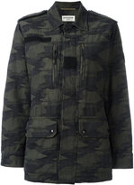 Saint Laurent camouflage military jacket