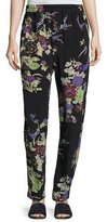 Isabel Marant Isley Floral Bouquet Printed Pajama Pants, Black