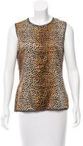 Dolce & Gabbana Cheetah Print Silk Top