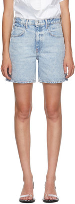 Alexander Wang Blue Mid-Rise Boy Shorts