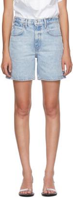 Alexander Wang Blue Mid-Rise Boy Shorts