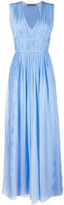 Alberta Ferretti Sleeveless Silk Maxi Dress
