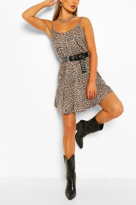 boohoo Leopard Swing Dress