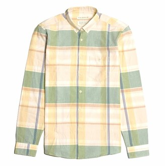 Far Afield Casual Button Down Long Sleeve Shirt - Vadella Check