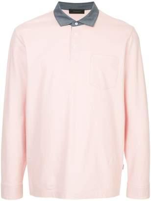 Durban D'urban contrast collar longsleeved polo shirt