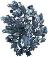 """Flower Brooch-Sindary Jewelry Sindary 4.33"""" Gorgeous Austrian Crystal Teardrop Flower Brooch Pin Pendant"""