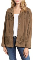 AG Jeans Women's The Greta Fringe Suede Jacket