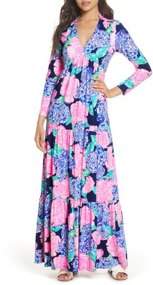 Lilly Pulitzer Martinique Long Sleeve Maxi Dress