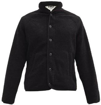 YMC Beach Shawl-collar Fleece Jacket - Black