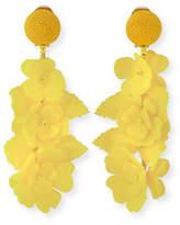 Oscar de la Renta Climbing Flower Clip-On Earrings