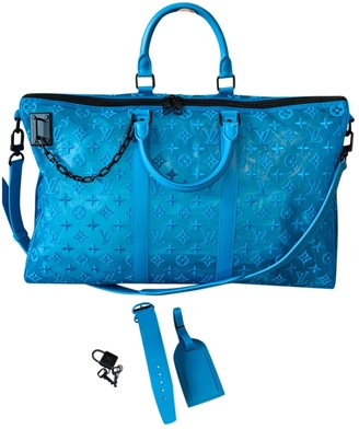 Louis Vuitton Keepall Triangle Turquoise Plastic Bags