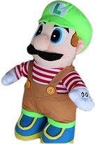 Creative Super Mario Plush Dolls Mario Brothers for Kids Gifts (30cm, Green)