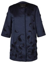 Andrew Gn Navy Cocktail Coat
