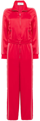 Valentino Belted Striped Satin-crepe Jumpsuit