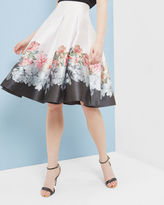 Ted Baker Painted Posie pleated skirt