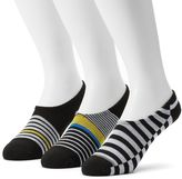 Converse Men's 3-pack Made For Chucks Striped Liner Socks