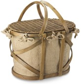 Williams-Sonoma Jute/Bent Wood Picnic Basket