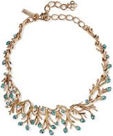 Oscar de la Renta Seaweed gold-plated crystal necklace