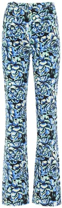 Paco Rabanne High Waist Printed Cotton Pants